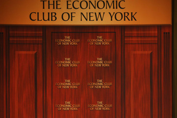Becky Quick AT&T CEO CEO Randall Stephenson Speaks at New York Economic Club