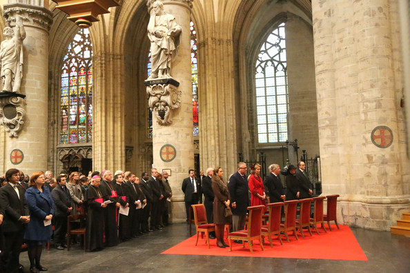 Princess Claire, Prince Laurent, Princess Mathilde, Prince Philippe, Princess Astrid and Prince Lorentz of Belgium attend the Te Deum on King's Day at Cathedrale des Saints-Michel-et-Gudule on November 15, 2012 in Brussels, Belgium.