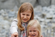 Princess Elisabeth and Princess Eleonore of Belgium visit Sealife on July 12, 2014 in Blankenberge, Belgium.