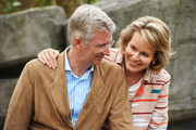 King Philippe and Queen Mathilde of Belgium visit Sealife on July 12, 2014 in Blankenberge, Belgium.