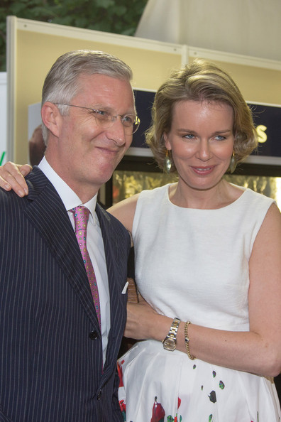 King Philippe and Queen Mathilde of Belgium attend National Day at Place des Palais on July 21, 2014 in Brussel, Belgium.