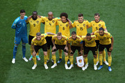 Belgium players pose for a team photo during the 2018 FIFA World Cup Russia 3rd Place Playoff match between Belgium and England at Saint Petersburg Stadium on July 14, 2018 in Saint Petersburg, Russia.