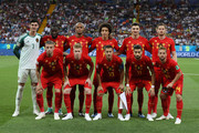 Belgium team pose for a team photo prior to the 2018 FIFA World Cup Russia Round of 16 match between Belgium and Japan at Rostov Arena on July 2, 2018 in Rostov-on-Don, Russia.