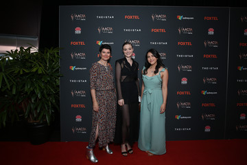 Bella Heathcote Natalie Erika James 2020 AACTA Awards Presented by Foxtel | Film Ceremony - Arrivals