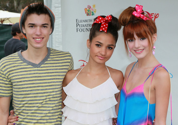 "Bella Thorne (L-R) Actor Remy Thorne, singer Pia Mia and actress Bella Thorne attend the Elizabeth Glaser Pediatric AIDS Foundation's ""A Time For Heroes Event"" at Wadsworth Theater on the Veterans Administration Lawn on June 12, 2011 in Los Angeles, California."