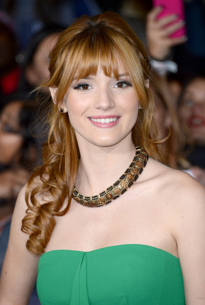 "Bella Thorne Actress Bella Thorne arrives at the premiere of Summit Entertainment's ""The Twilight Saga: Breaking Dawn - Part 2"" at Nokia Theatre L.A. Live on November 12, 2012 in Los Angeles, California."