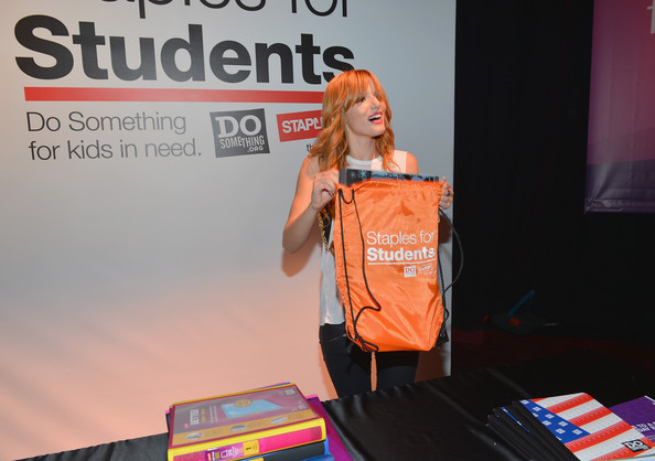 Bella Thorne - Staples, DoSomething.org & Bella Thorne Party For The 5th Staples For Students School Supply Drive Benefiting Students In Need