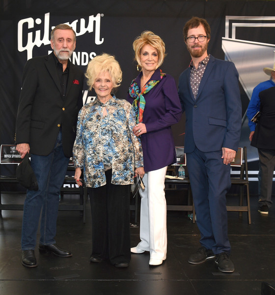 2018 Music City Walk Induction Ceremony [event,suit,award,nashville,tennessee,music city walk induction ceremony,walk of fame park,brenda lee,ray stevens,ben folds,jeannie seely]
