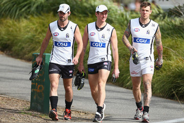 Ben Johnson Collingwood Magpies Training Session