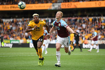 Ben Mee Wolverhampton Wanderers vs. Burnley FC - Premier League