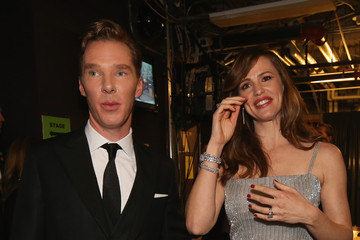 Benedict Cumberbatch Backstage at the 86th Annual Academy Awards