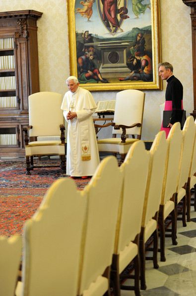 Pope Benedict XVI Meets With Presidents Of Bulgaria And Macedonia