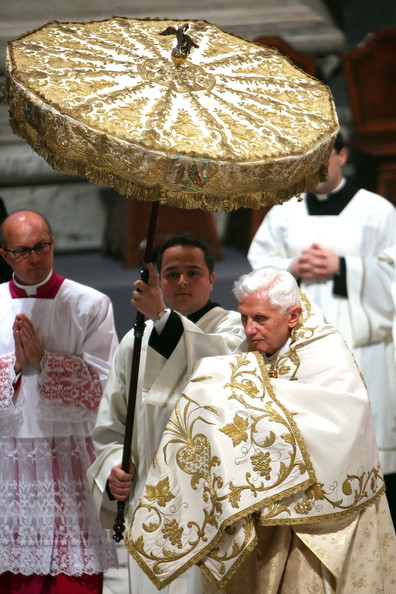 Benedict XVI - Pope Benedict XVII Conducts Mass Of The Lord's Supper