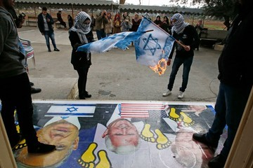Benjamin Netanyahu Seventh Day of Protests in Middle East Over Trump's Jerusalem Move