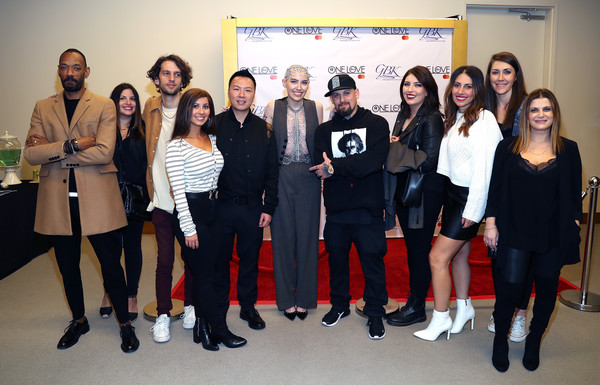 Primary Wave x Island Records Presented By Mastercard: One Love Hotel - Performances By Bishop Briggs And Julian Marley [primary wave x island records,social group,event,team,youth,tourism,employment,performance,bishop briggs,darcus beese,julian marley,l-r,one love hotel,hotel west hollywood,mastercard,island records,performances,bishop briggs,darcus beese,sharon marley,stock photography,photograph,getty images,photography,image]