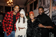 Jay Ellis (L-R) Janina Gavankar, Anika Noni Rose and Colman Domingo attend the second annual Cocktails and Conversation event presented by the Bentonville Film Festival and Google at the DirecTV Lodge presented by AT&T during Sundance Film Festival 2018 on January 20, 2018 in Park City, Utah.
