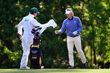 Bernhard Langer Terry Holt The Masters - Preview Day 3