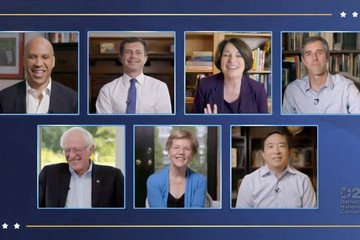 Bernie Sanders Andrew Yang Democrats Hold Unprecedented Virtual Convention From Milwaukee