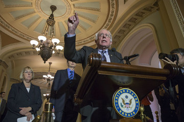 Bernie Sanders Senate Lawmakers Address the Media After Their Weekly Policy Luncheons