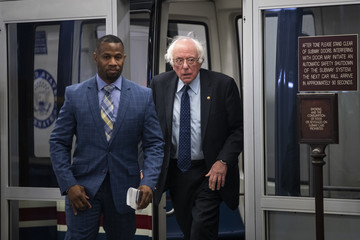 Bernie Sanders Members Of Congress Return To Capitol Hill Amidst New Kavanaugh Accusations