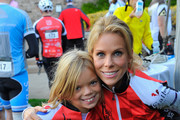 Cheryl Hines and daughter Catherine Rose Young attend Best Buddies Challenge: Hearst Castle 100-Mile Start Line: Quail Lodge Golf Club on September 8, 2012 in Carmel, California.