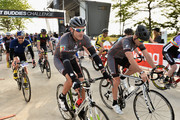 Cyclist George Hincapie (C) participates in the Best Buddies Challenge: Hyannis Port 2015 on May 30, 2015 in Boston, Massachusetts.