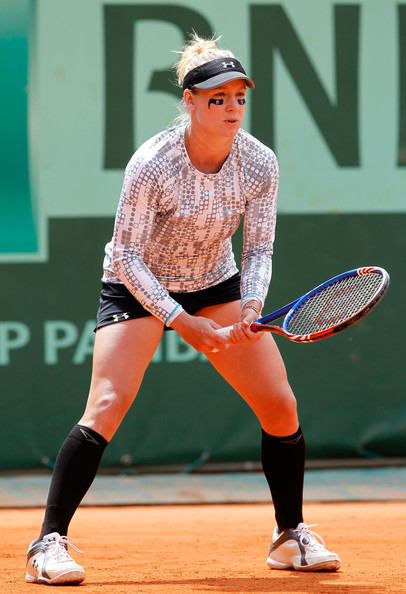 Bethanie Mattek-Sands Bethanie Mattek-Sands of USA awaits a serve during the women's singles round three match between Jelena Jankovic of Serbia and Bethanie Mattek-Sands of USA on day six of the French Open at Roland Garros on May 27, 2011 in Paris, France.