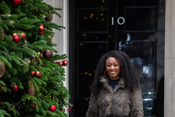 Beverley Knight No 11 Downing Street Hosts Children's Christmas Party