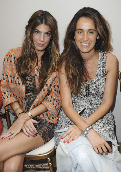 Coco Brandolini D'Adda and Bianca Brandolini D'adda - Giambatista Valli: Front Row -  Paris Fashion Week Haute Couture F/W 2011/2012