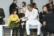 Designer Bibhu Mohapatra prepares for Bibhu Mohapatra fashion show during New York Fashion Week: The Shows at Gallery II at Spring Studios on February 11, 2019 in New York City.