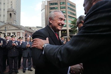 Bill Bratton  The NYPD Honors Outgoing Police Chief Bill Bratton on His Last Day