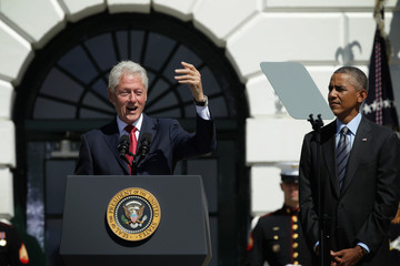 Bill Clinton President Clinton Joins Obama To Commemorate 20th Anniversary Of AmeriCorps