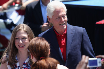 Bill Clinton Hillary Clinton Holds Campaign Kick-Off Rally in NYC