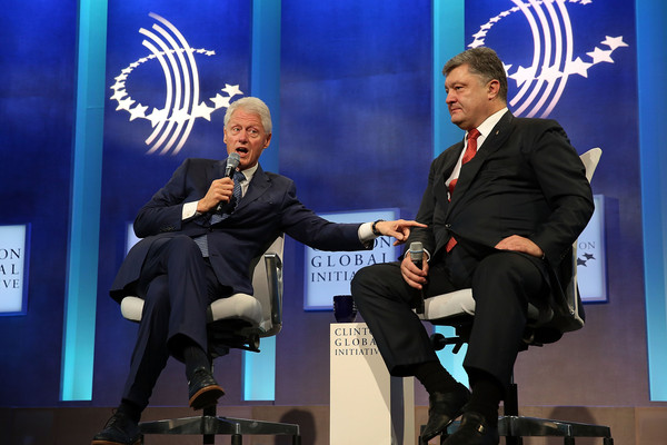 Image result for poroshenko and bill clinton