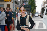 Designer Cynthia Rowley arrives to the Bill Cunningham Memorial  at Carnegie Hall on October 17, 2016 in New York City.