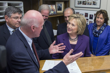 Bill Gardner Hillary Clinton Files for the NH Primary and Campaigns in the State