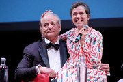 Bill Murray and Frances McDormand attend the masterclass during the 14th Rome Film Festival on October 19, 2019 in Rome, Italy.