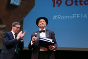 Antonio Monda and Bill Murray during the 14th Rome Film Festival on October 19, 2019 in Rome, Italy.
