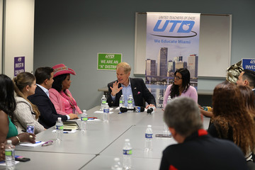 Bill Nelson Florida Sen. Bill Nelson Meets With Education Leaders At Campaign Event