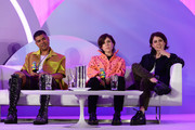 "ILoveMakonnen and Tegan and Sara speak onstage at the ""Queer Headliners 2019"" panel during the Billboard And The Hollywood Reporter Pride Summit on August 08, 2019 in West Hollywood, California."