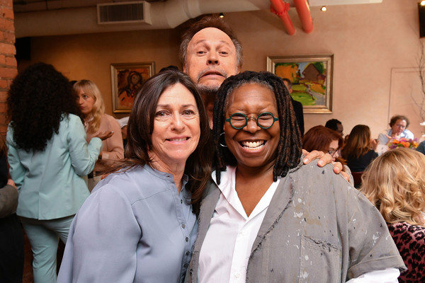 Jury Lunch - 2019 Tribeca Film Festival [event,youth,community,smile,party,crowd,student,billy crystal,janice crystal,whoopi goldberg,l-r,new york city,tribeca grill loft,tribeca film festival,tribeca film festival jury lunch]