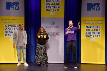 Billy Eichner MTV's 2017 College Signing Day with Michelle Obama - Inside