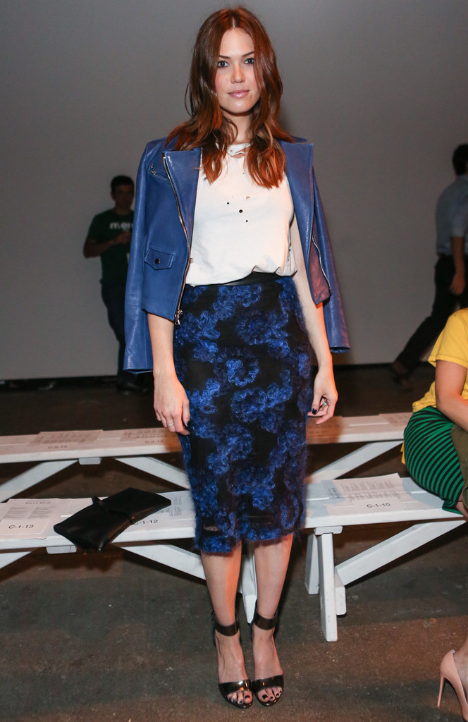 Look Who We Ran Into at the Billy Reid Show - Mandy Moore Dishes on Her Fall Wardrobe