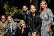 (L-R) Wendie Malick, guest, EMA CEO Debbie Levin, Lance Bass, Michael Turchin and Amy Smart attend The Clean Academy launch event hosted by Biossance and Jonathan Van Ness at Harriet's Rooftop on November 05, 2019 in West Hollywood, California.