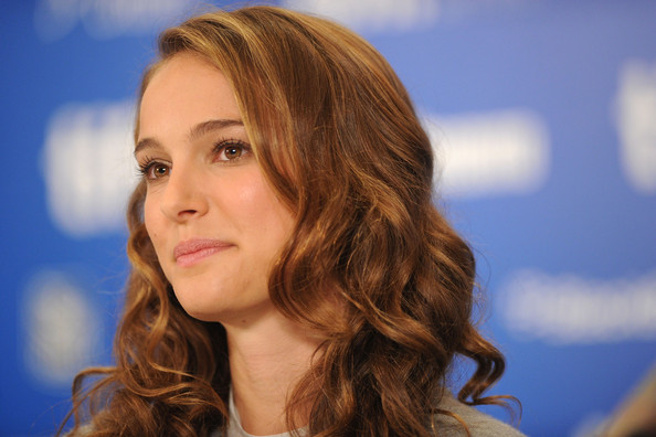 "Actress Natalie Portman speaks at ""Black Swan"" press conference during the"