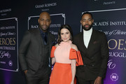(L-R) Karamo, Sophia Bush and Jay Ellis attend the 2020 Black AIDS Institute's Heroes In The Struggle Gala at California African American Museum on February 08, 2020 in Los Angeles, California.