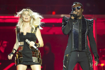 Fergie will.i.am Black Eyed Peas Perform In Concert In Madrid