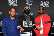 (L-R) Vin Rock, Treach, and DJ Kay Gee of Naughty By Nature attends 2019 Black Music Honors  at Cobb Energy Performing Arts Centre on September 05, 2019 in Atlanta, Georgia.