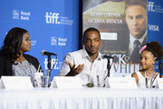 "(L-R) Actress Octavia Spencer, actor Anthony Mackie and actress Jillian Estell onstage at ""Black And White"" Press Conference during the 2014 Toronto International Film Festival at TIFF Bell Lightbox on September 7, 2014 in Toronto, Canada."