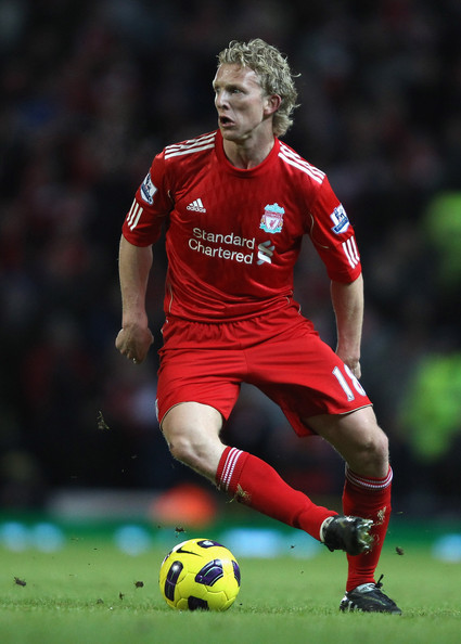 Dirk Kuyt of Liverpool in action during the Barclays Premier League match between Blackburn Rovers and Liverpool at Ewood park on January 5, 2011 in Blackburn, England.